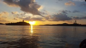 Watch the sunset at Barelang Bridge